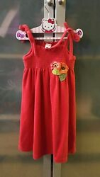 Gymboree Girls Tropical Traveler Coral Terry Summer Dress or Cover Up 6