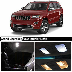 18x White LED Interior Dome Lights Package Kit Fit 2011-2015 Jeep Grand Cherokee $17.89