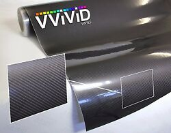 Vvivid Dark Gray Tech Art Carbon Fiber Gloss Vinyl Car Wrap
