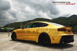 Vvivid Xpo Gold Satin Chrome Film  vinyl car wrap decal
