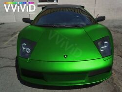 Vvivid Xpo Green Satin Chrome vinyl car wrap decal