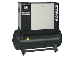 SCHULZ 15HP ROTARY SCREW AIR COMPRESSOR WITH 61 GALLON TANK 51 CFM- NEW $5,599.00