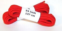 6 Pair Pack Round Athletic Laces for Boots And Shoes RED
