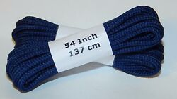 6 Pair Pack Round Athletic Laces for Boots And Shoes NAVY