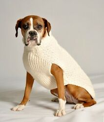 Dog Sweater Natural Cable Sweater by Chilly Dog $25.99