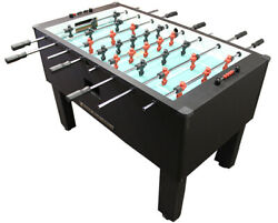 Gold Standard Home Pro Carbon Fiber Foosball Table Chrome Rods and Black Handles