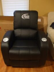 BUD LIGHT NFL RECLINER CHAIR 2 CUP HOLDERS BRAND NEW IN BOX  PLEATHER