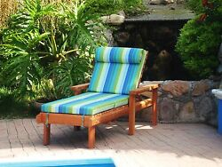 Single Redwood Chaise Lounge with cushion 30