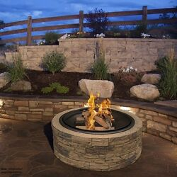 35'' Patio Fireplace Fire Pit Large Furniture Cast Stone Heater Outdoor Outside