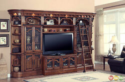 Barcelona 6pc Traditional Wall Unit Large TV Entertainment Center Parker House