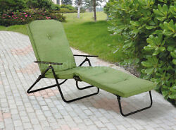 Padded Outdoor Folding Pool Patio Lounge Chaise Sun Chair Beach Recliner Tanning