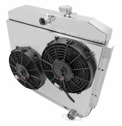 Champion 2 x 10quot; Fan and Shroud Combo Only For 1955 1957 Chevy w V8 mounting $194.95