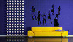 Wall Decal Sticker Bedroom girls different style models fashion beautiful bo2824 $27.99