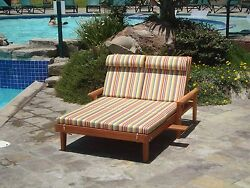 Double Summer Chaise Lounge with Cushion 30