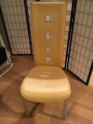 six contemporary dining chairs $550.00