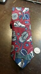 AMERICAN SPORTS TENNIS NOVELTY MENS NECKTIE FREE SHIPPING $7.99