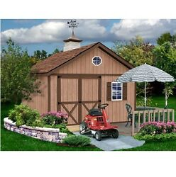 New Brandon1216 EzUp Best Barns 12x16 Premium Quality Wood Outdoor Shed Barn Kit