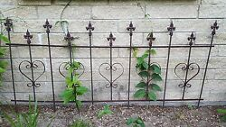 Victorian Goth Wrought Iron Fence Panels from Micanopy FL Fleur-de-lis