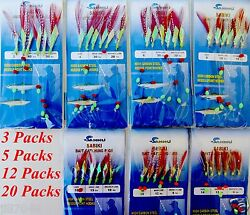 Sabiki Bait Rigs 6 Gold Hooks With Red Feather Size: 2 4 6 81012 amp;14 486 $29.99