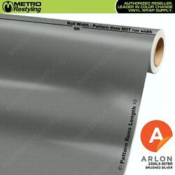 ARLON 2300LX-5027BR BRUSHED SILVER Vinyl Vehicle Car Wrap Decal Film Sheet Roll