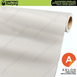 ARLON 2300LX-502CF WHITE CARBON FIBER Vinyl Vehicle Car Wrap Decal Film Roll