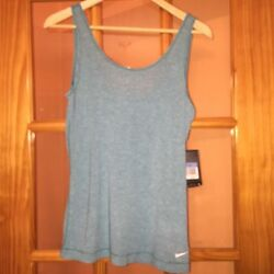 NWT NIKE PRO SKY BLUE DRI FIT Tank Top SZ M STYLE 611829 Retails for $35 $19.95