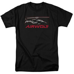 Airwolf TV Series Air Wolf Helicopter on Grid Licensed Tee Shirt Adult S 3XL $21.95
