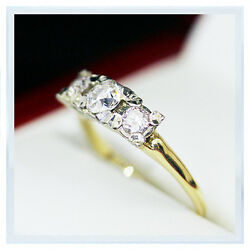 Fabulous Vintage Engagement ring Past Present Future VS Diamond engagement ring
