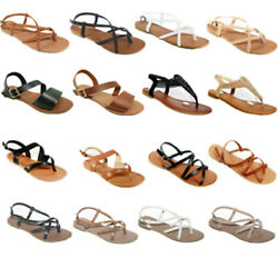 New Women Gladiator Sandals Shoes Thong Flops T Strap Flip Flat Size Strappy Toe $13.79