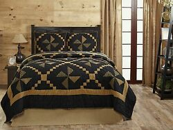 7PC EDWARD LOG CABIN QUEEN BED QUILT SET By OLIVIAS HEARTLANDCOUNTRY BEDDING
