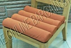 Frontgate Outdoor Channeled Replacement Patio Chair Cushion 19x18 Brick Orange