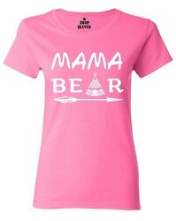 White Mama Bear Teepee Women#x27;s T Shirt Mother#x27;s Day Mom Life New Mom Cute Shirts