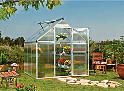 Outdoor Garden Greenhouse Plants Shed Kit Patio Gazebo Polycarbonate Pergola 6ft