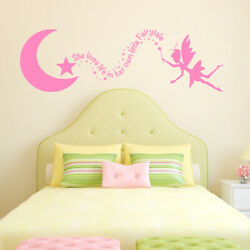 She lives life in her own little Fairytale Vinyl Wall Decal Quote bedroom L194