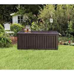 Outdoor Patio Deck Storage Box Bench Furniture for Seat Cushions Garden Supplies