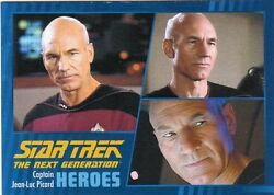 Star Trek TNG Heroes & Villains  Base Card SetP1 and Wrapper