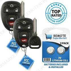 2 Replacement for 2006-2013 Chevy Impala 06-07 Monte Carlo Remote Key Fob 5b Set $18.77