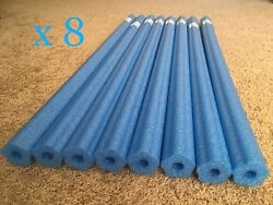 Lot 8x Blue Noodle Swimming Pool Noodle therapy water floating foam craft $18.99