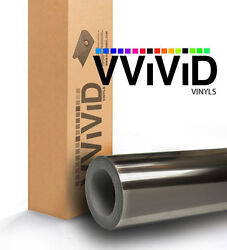 VViViD Supercast Chrome Black Car Wrap Vinyl Film 54ft x5ft Air Release XPO 3Mil