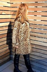 $9900 Gucci FUR Runway Leopard Pony Hair Animal  coat size 44 NEW WITH TAGS