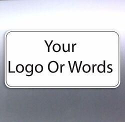 Business Shop Front stickers Size rectangle logo work sign custom australia made