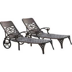 Home Styles Biscayne Chaise Lounge Chairs Set of 2