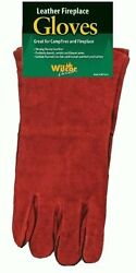 Campfire Fire Place Tender Gloves (Strong Heavy Leather)(colors may vary)