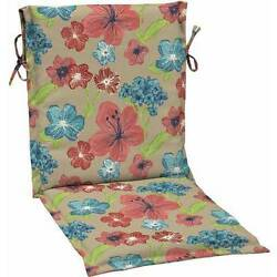 Mainstays Outdoor Patio Sling Chair Cushion Multiple Patterns