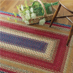 LOG CABIN BRAIDED AREA RUGS By HOMESPICE DECOR. OVAL & RECTANGLE. MANY SIZES!