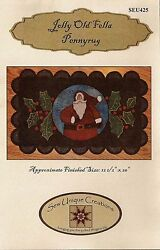 ~ JOLLY OLD FELLA PENNYRUG ~ Wool Applique Pattern Quilting 12