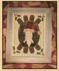 ~ ST. NICK PENNYRUG ~ Wool Applique Pattern Quilting 11