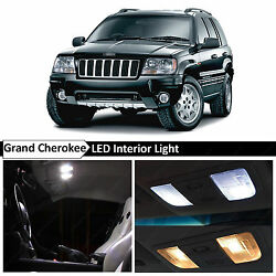 18x White Interior LED Lights Package Kit Fits 1999-2004 Jeep Grand Cherokee WJ $14.89
