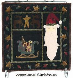 ~ WOODLAND XMAS ~ Lily Anna Stitches Penny Rug Wool Applique Pattern 15
