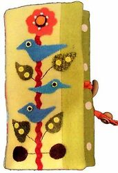 ~ SONGBIRD JEWELRY ROLL ~ Penny Rug Wool Applique Pattern 8